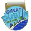 Médaille d'or molle en métal d'émail de Dublin de conduite grande de vélo