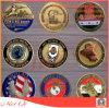 Metal/antiguidade/lembrança/ouro personalizado/moeda militar/de prata do desafio da polícia com logotipo
