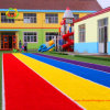 Outdoor Playgroundのための多彩なRainbow Decorative Artificial Grass