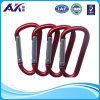 3  Home, RV, Camping, Fishing, Hiking, Traveling 및 Keychain를 위한 /7.5cm Assorted Colors D Shape 봄 Loaded Gate Aluminum Carabiner