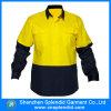 Chemise de vêtements de travail de Relfective de force de marine de jaune de constructeur de la Chine salut