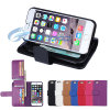 Magnetische Wallet Leather Case met Card Holder voor iPhone 6 (IP6-053)