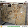 壁またはカウンタートップのための中国の美しいShangriLaの金大理石のタイル