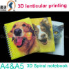 Pp. /Pet Plastic Cover Material 3D Spiral Notebook