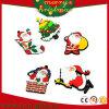 Ímãs de borracha macios Santa do refrigerador do PVC do presente do Natal (RC-CR02)