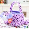 Ostern Kids Gift Plush Soft Stuffed mit PVC Basket Toy