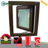 VinylWoodgrain UPVC Openslaand raam met Gebouwd in Zonneblinden