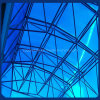 6mm Frosted Blue Polycarbonate Twin Wall Sheet pour Roof d'immeuble de bureau