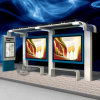 Double ao ar livre Side Static Bus Shelter e Kiosk Light Box