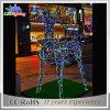 luz de interior del reno de las decoraciones LED de la Navidad de la escultura del adorno 3D