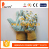 Luva da jardinagem de flor, PVC pontilhado na palma (DGB203)
