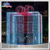Luz al aire libre de hadas del paisaje del rectángulo de regalo de la cadena de la calle decorativa del LED