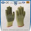 Перчатки предохранения от работы безопасности Aramid One-Side поставленные точки PVC Резать-Упорные (Non-slip)