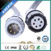 Usine tournée imperméable à l'eau de goupilles du contact 2-8 de connecteur de câble de fil électrique