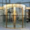Porte coulissante en verre de couleur d'arc d'or d'arc avec le fini d'acier inoxydable