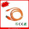 Cable trenzado de nylon del cargador de los datos del USB de la alta calidad
