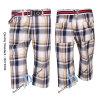 I pantaloni di plaid degli uomini, spiaggia mettono (PS12C24)