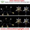 Luz de Natal do bulbo do diodo emissor de luz da decoração do feriado da estrela do metal