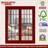 Porta de madeira da entrada da placa do MDF com vidro (XS3-015)