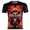 T-shirt court gothique punk de douille de cycliste de crâne de Reaper sinistre des hommes
