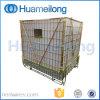 Gabbia d'impilamento logistica pieghevole d'acciaio del magazzino