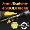 Tonelife Tl1078 Hunting Flashlight Searching Torch für Police Military 4500 Lumen CREE Xml CREE U2*7 LED