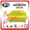 Incubateur Va-48 du plus nouvel de poulet d'oeufs Digitals d'incubateur d'oeufs de 2014 mini d'incubateur de famille incubateur complètement automatique d'utilisation