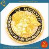 Изготовленный на заказ монетки сувенира отделки золота сплава цинка (KD-0027)
