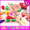 2015 Cutting colorido Vegetables Toy para Kids, DIY Wooden Toy Fruit Toy para Children, Hot Selling Funny Cutting Food Toy W10b098