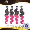 Malaysian Ombre 색깔 바디 파 Virgin 머리 길쌈