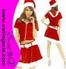 Traje sexy T1382 de Santa do Natal