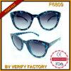 Óculos de sol retros de Occhiali da mulher da tartaruga do olho de gato F6809