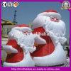 Decoración inflable al aire libre enorme Papá Noel para el acontecimiento de la decoración de la Navidad