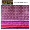 Tela 100% de matéria têxtil gravada do poliéster de veludo (EDM5137)