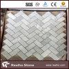 Azulejo de mosaico de Carrara/modelo de mosaico de mármol blancos Herringbone para la pared
