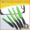 5PCS het kleurrijke die Mes van de Keuken met Plastic Handvat wordt geplaatst (RYST094C)