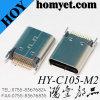 3.1 Cのタイプ穴のすくい24pin USBのメス型コネクタを通した180度