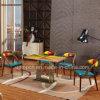 De de houten Veelkleurige Lijst van het Restaurant van de Desktop en Stoel van het Leer (SP-CT817)