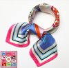Écharpe en soie carrée pour femmes à la mode