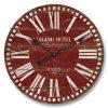 型赤いMDFの柱時計