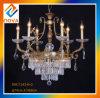 シンプルな設計の骨董品の青銅の水晶が付いている贅沢なシャンデリアランプ