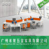 Modernes Stahlfuss-Büro-hölzerner Schreibtisch mit Farbanstrich