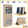 Mobile de lujo Phone Brown Cover Leather Caso para el iPhone 6