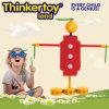 Brinquedo humano engraçado do bloco dos cérebros do brinquedo da instrução do modelo da forma
