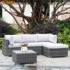Sofà d'angolo commerciale del rattan di nuovo disegno Using esterno o il giardino