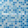 mosaico de vidro deDerretimento da mistura azul de 20X20mm para a piscina (BGE013)