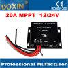Batería de carga solar MPPT Solar Charger Controller 12V/24V 20A de Panel