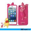 iPhone 4G/5g/6gのための3D Piggie Cartoon Silicon Bumper Phone Case