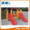 Patio de Zhongkai de la diapositiva plástica con el oscilación para los niños en descuento