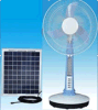 Huis Application 12V Solar Fan met LED Lamps